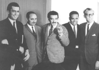 Con Gabriel García Márquez y amigos