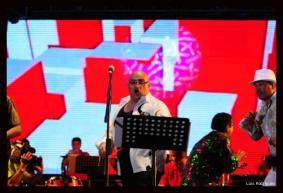 Juventino y Son Mocaná fue uno de los grupos que más entusiasmó con sus canciones a los asistentes al Romelio Martínez.