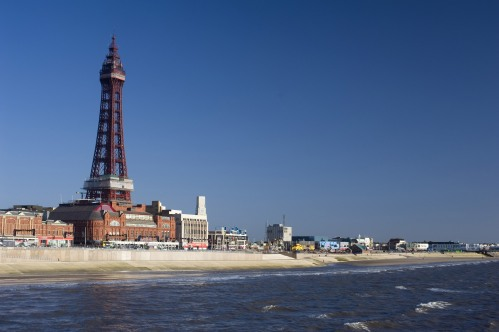 blackpool tower and prom