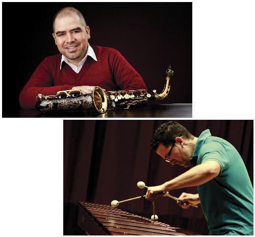 Javier Ocampo y Alejandro Ruiz se presentarán este miércoles 27 de agosto con el recital 'Dos caminantes en un mismo rumbo' a ritmo de saxofón y marimba.
