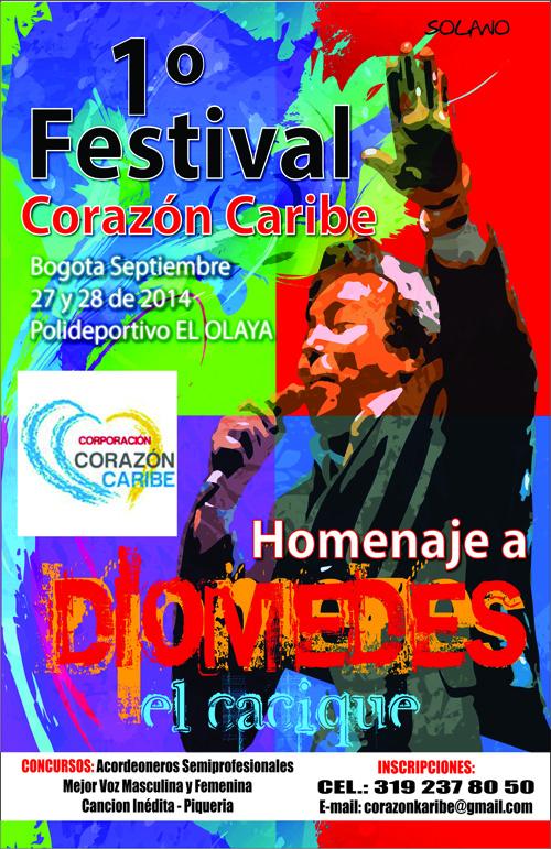 Afiche Promocional Festival Corazón Caribe
