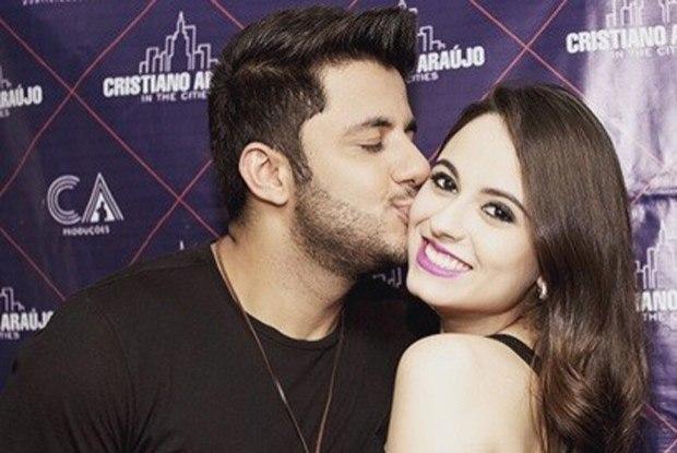 Cristiano Araújo y su novia, Allana Moraes