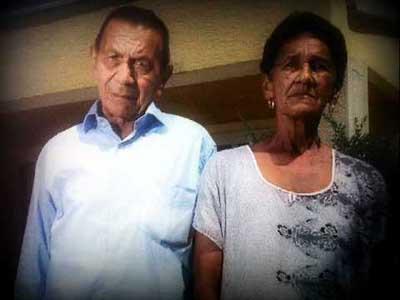 Elvira Maestre Hinojosa y su esposo Rafael Díaz Catano