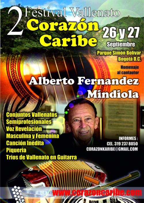Afiche Promocional Festival Corazón Caribe Bogotá