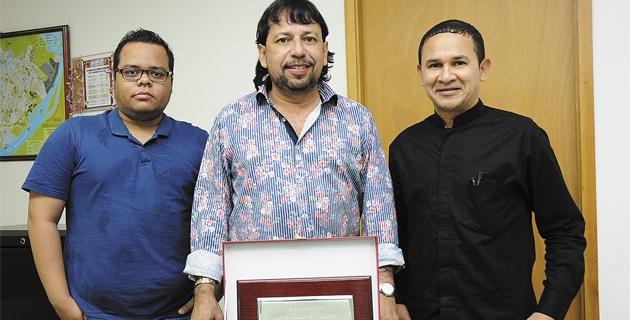 Roberto Llanos Rodado, Fausto Pérez Villarreal y Jimmy Cuadros Rojano