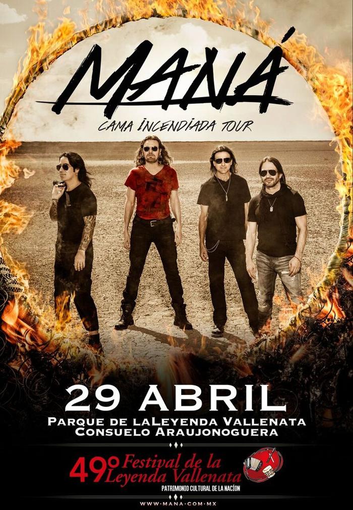 Maná 29 de abril Parque de la Leyenda Vallenata.-.