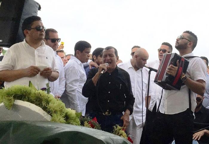 Julio Mario Rojas, en el acordeón - Foto Juan Rincón Vanegas