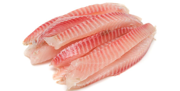 Fish fillet. Image series of different food on white background