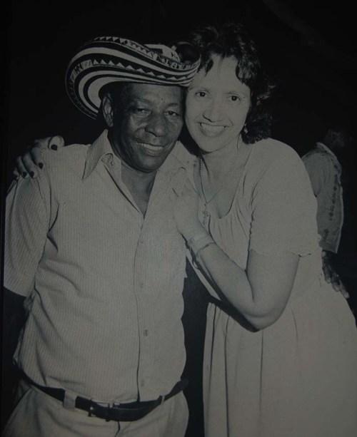 Alejo Durán y Consuelo Araujonoguera. Foto Fundación Festival de la Leyenda Vallenata