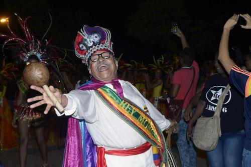 El rey Momo de las Fiestas de Independencia.
