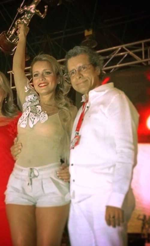 Margarita Rosa Doria y su padre Guillermo Doria