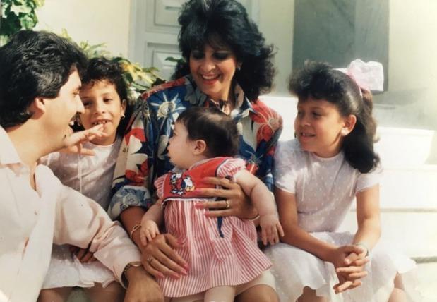 Rafael Orozco, señora e hijas