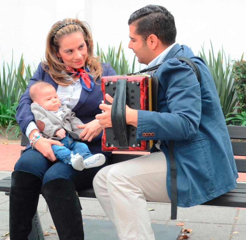 Rey Vallenato Jaime Dangond Daza y familia - Foto Rubén Dario Torres