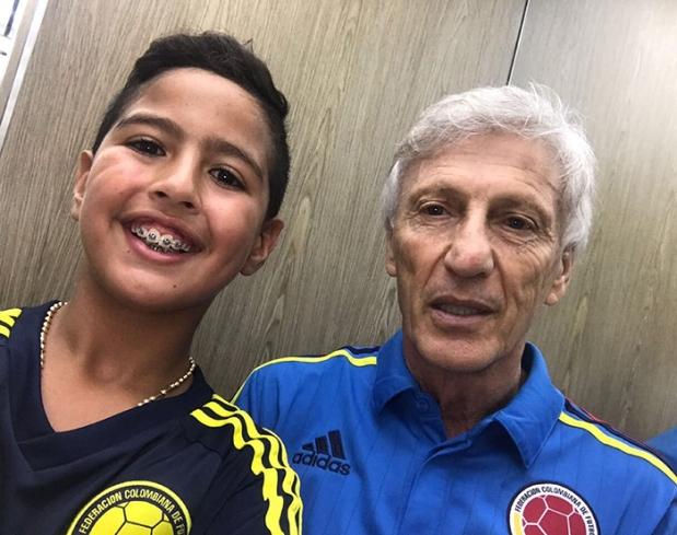 Martincito con José Pekerman