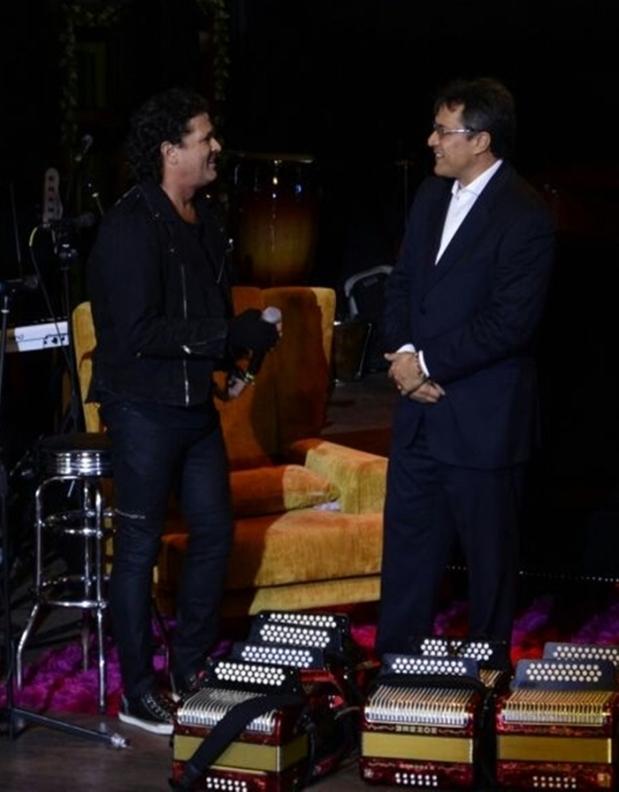 Rueda de Prensa Carlos Vives y Rodolfo Molina
