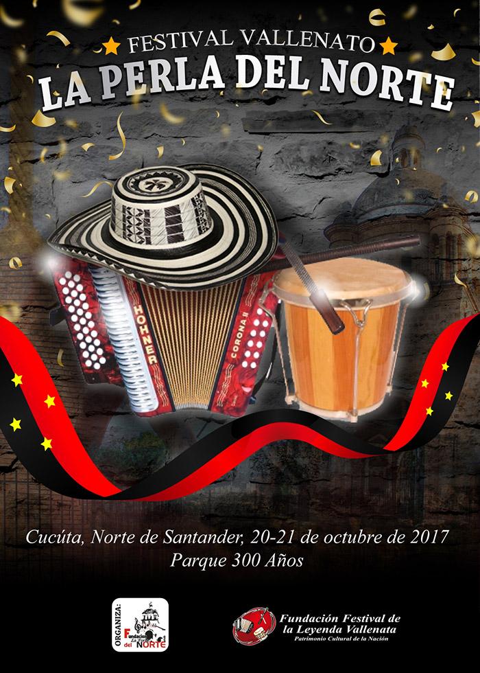 Afiche Festival Vallenato La Perla del Norte