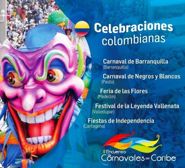 Afiche promocional Encuentro de celebraciones colombianas