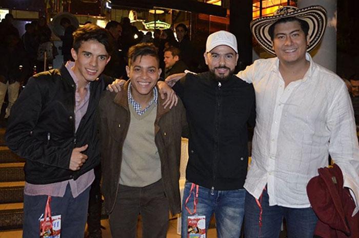 Ganadores Caravana de Navidad, Ronald Torres, Javier Alvarez, Alfonso Monsalvo y Fernando Rangel