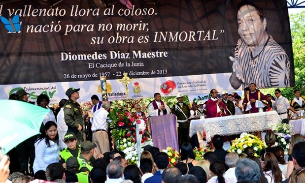 Honras fúnebres de Diomedes Díaz - Foto James Castrillón