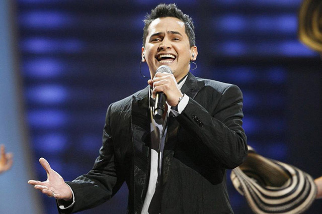 Colombian musician Celedon performs during 9th annual Latin Grammy Awards in Houston, Texas