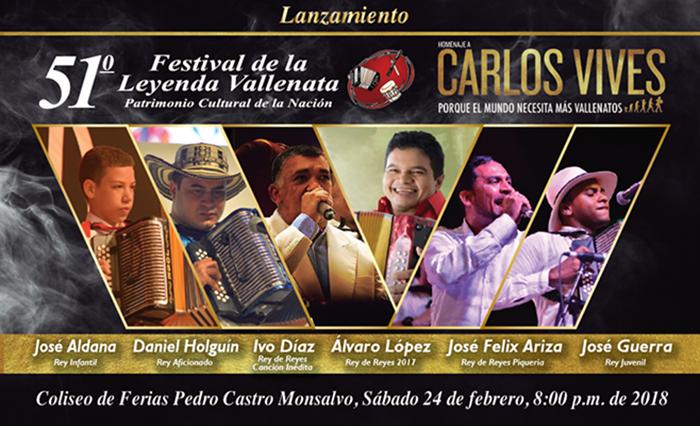 Lanzamiento del 51 Festival Vallenato en Valledupar