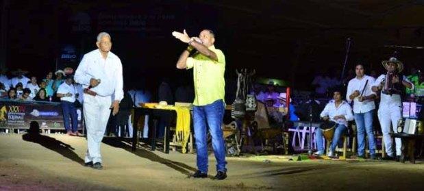 Rey Andrés Beleño y José Félix Ariza, Rey de Reyes de la Piqueria, lanzamiento 51 Festival Vallenato en Valledupar