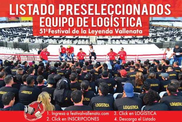 Logística Festival de la Leyenda Vallenata