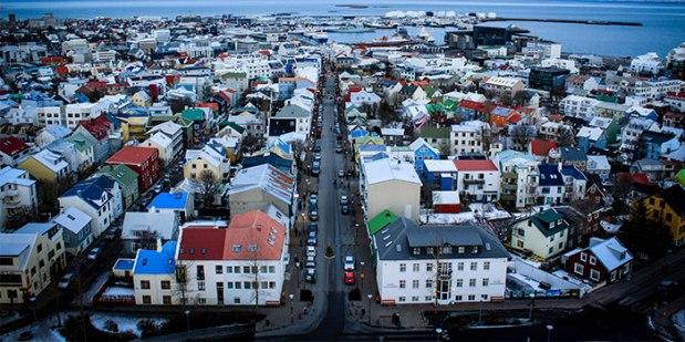 reykjavik-Panorámica desde la Torre de Hallgrimskirkja