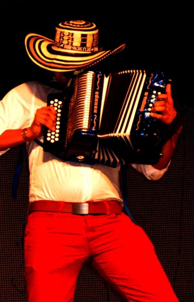 Acordeonero en acción - Foto Fundación FLV