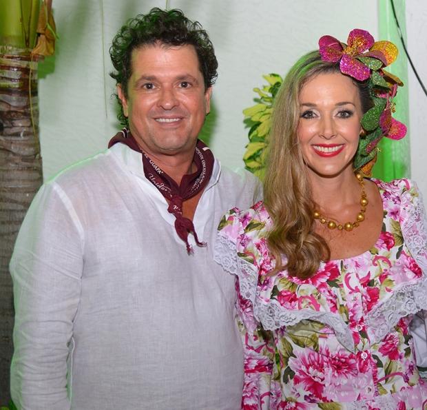 Carlos Vives y Claudia Elena Vásquez, un amor diseñado con cantos y proyectos de vida. Foto Fundación Festival de la Leyenda Vallenata