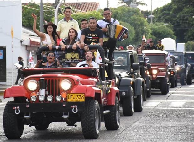 Desfile de Jeep Willys Parranderos en Valledupar 2 Foto Fundación FLV