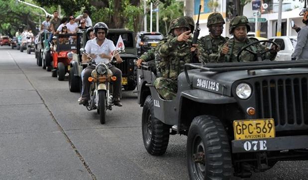 Desfile de Jeep Willys Parranderos en Valledupar . Foto Fundación FLV-