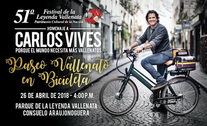 Paseo vallenato en bicicleta