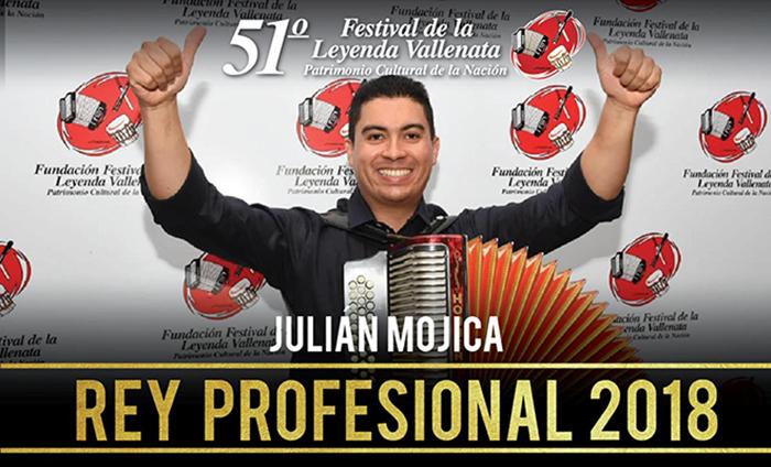 Julián Mojica, Rey Vallenato 2018