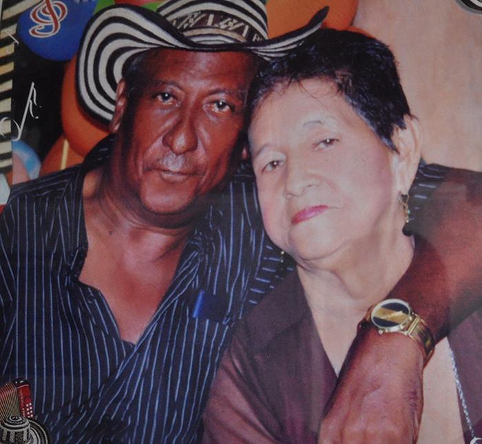 El Rey Vallenato Alberto Rada Ospino y su esposa María del Socorro Andrade - Foto Archivo familiar