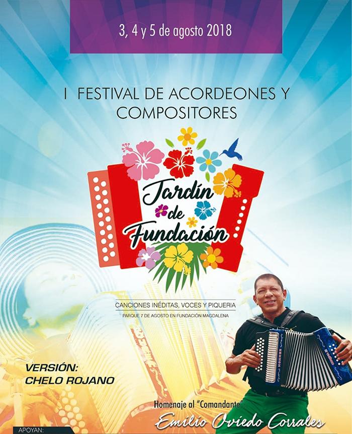 Afiche promocional Festival de Acordeones y Compositores Jardín de Fundación