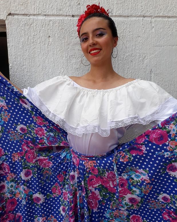 Luisa Valentina Rico, la más bonita y mejor bailadora en Chimichagua