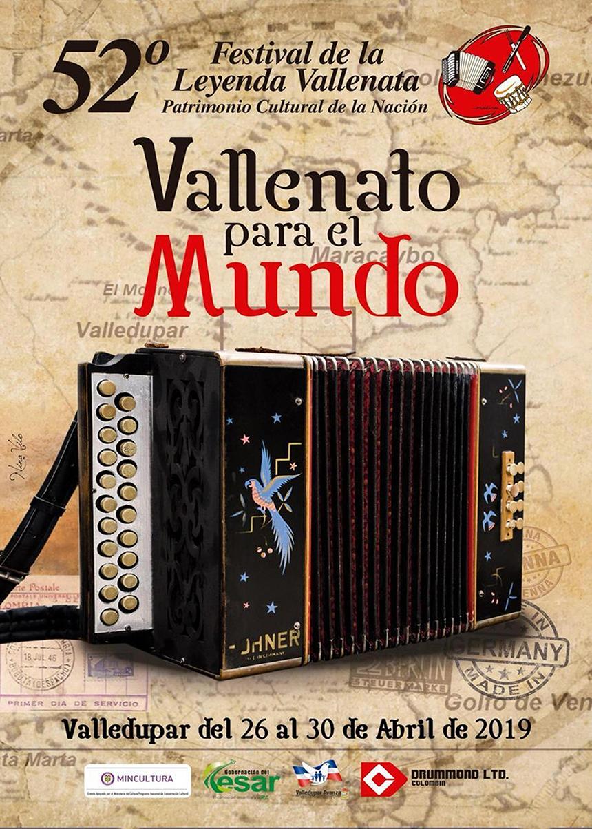 Afiche Festival Vallenato 2019