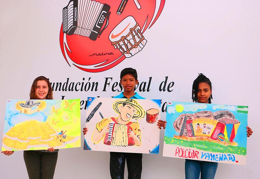 Ganadores Concurso de Pintura Infantil 2018. De izquierda a derecha. 1er puesto Lesly Gomez Valdes. 2do puesto Diego Reyes Marriaga. 3er puesto, Gilarys Castillejo Ditta